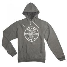 Klein Tools 96608GRYS Light Gray Hooded Sweatshirt - Small