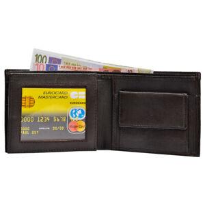 100%Genuine Mens Leather Wallet RFID Safe Quality Soft Credit Card holder purse