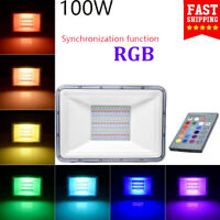 100W Waterproof RGB LED Outdoor Color Changing Flood Spot light Garden Lamp US