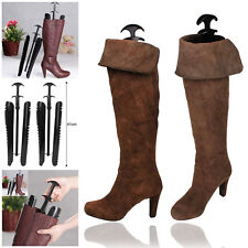 1 Pairs Lady Women Automatic Boot Trees / Shapers With Handle 12.5 inch Black UK