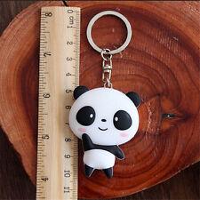Kawaii Silicone Panda Cartoon Keychain Bag Pendant Car Key Ring Accessories Gift