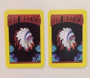 Pair Of Miniature Vintage New Mexico Souvenir Swap Cards USA