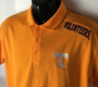 Tennessee Volunteers Polo Golf Shirt VOLS Spellout Logo Sewn Sz M Casual NCAA