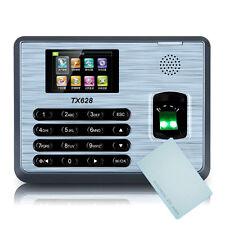TX628 TCP/IP Fingerprint Time Attendance 125K EM Card & Fingerprint Time Clock