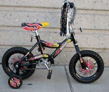 "12"" Boy's Black Bike Training Wheels Foot Brake 3 to 5 Years Old"