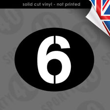 2 x Vespa Sei Giorni Style Oval  Vinyl Decal Sticker Vespa 2911-0420