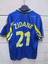 VINTAGE Maillot JUVENTUS TURIN maglia ZIDANE n°21 bleu D+ camiseta shirt L JUVE