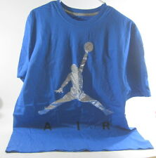 new Jordan Jumpman Air Men's T-Shirt Blue/Silver 576794-432    SIZE L  AC ***