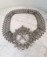 Vintage Christian Dior Silver Tone Metal Medieval Belt Rare!