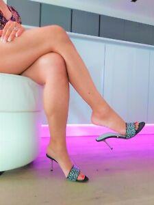 Gianmarco Lorenzi High Heel Stiletto Leder Pantoletten Mules Sandalen Sammler