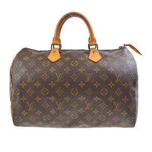 LOUIS VUITTON SPEEDY 35 HAND BAG PURSE MONOGRAM CANVAS M41524 844MB 50351