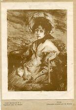 L'etude' Litografía original por J.E. Blanche (1861-1942)