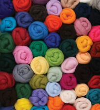 Wool Roving Select from ASSORTED COLORS 100g Fiber to Felt Spin Yarn