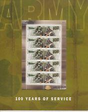 AUSTRALIA MNH 2001 SHEETLET PRESENTATION PACK POP THE AUSTRALIAN ARMY 100 YEARS