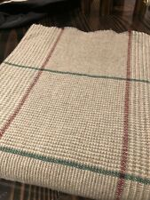 Cashmere Wool Plaid Throw Eagle Products Germany *New* Burgundy Stunning Gray