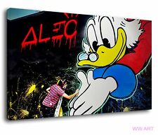 More details for alec monopoly is a street artist graffiti painting canvas wall art picture print