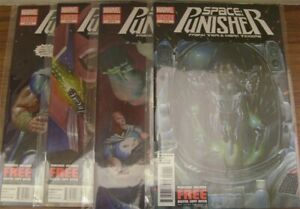 SPACE PUNISHER 1-4 MARVEL COMIC SET COMPLETE FRANK TIERI MARK TEXEIRA 2012 NM