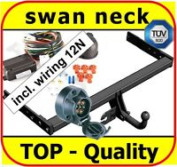 Towbar & Electrics 7pin 12N VW Tiguan SUV 2007 - onwards / swan neck Tow Bar