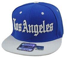 NEW LOS ANGELES LA 3D EMBROIDERY FLAT BILL SNAPBACK CAP HIP HOP HAT BLUE/WHITE