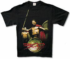 "300 MOVIE ""GLORY"" KING LEONIDAS BLK T-SHIRT GERARD BUTLER NEW OFFICIAL ADULT S"
