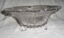 New Martinsville Radiance Glass Bowl Meadow Wreath