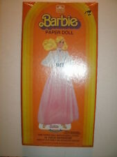 Barbie Paper Doll: 15 Piece Wadrobe, Precut Clothes with Stand! (1983) NIB