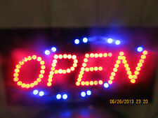 "NEW 19"" X 10"" LED OPEN SIGN-FLASHING AND GREAT DEAL!-ELECTRIC UNKNOWN oval"