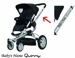 NEW PERSONALISED NAME QUINNY LOGO BUZZ ZAPP PRAM  STICKERS DECALS 14 COLOURS