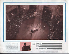 JOHN F. KENNEDY/JFK Funeral Casket Rotunda Original 1964 Documentary Poster