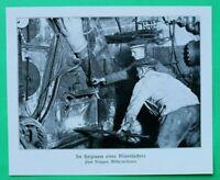 UM7) Marine Mine Minensucher Heizraum Matrosen 1914-1918 Technik 1.WK WWI