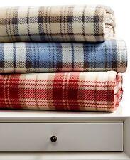 Charter Club Fleece Plaid King 66 x 90 Blanket Taupe N248
