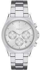 c1c8de42251de DKNY NY2378 Parsons Silver Dial Stainless Steel Chronograph Men s Watch