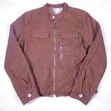 Mens TOMMY HILFIGER Brown Vintage 1990's Cotton Bomber Biker Jacket Large #B2234