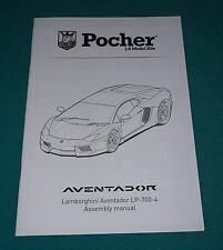 Lamborghini Aventador LP-700-4 Pocher 1/8 Assembly Manual.