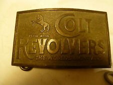 OLD - SOLID BRASS COLT REVOLVERS BUCKLE