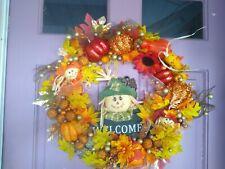 Homemade fall wreaths