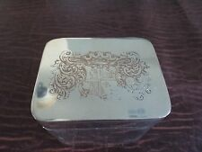 Blagden Hodgson & Co Sheffield Plate  Tobacco Cigarette match Container Covered