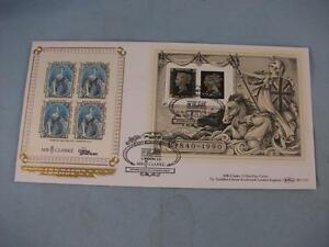 1990 Penny Black Definitives, Benham F.D.C. m/s Stamp Cover pmk MB Clarke BLCS53
