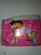 New Red Dora n Boots ball trifold wallet
