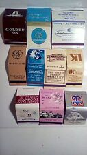 Assorted Matchbooks Lot Golden Ox /LK/ French LickSprings /Anthony's 10 Total