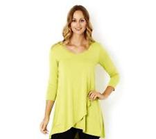 Join Clothes  Jersey V Neck Crossover Hem Tunic ORANGE MEDIUM J81