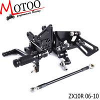CNC Rearset Rear Set Footrest Peg Pedal For Kawasaki Ninja ZX10R 1000 2006-2010
