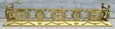 """Exceptional Antique 19th c. Neoclassical Gilt Bronze 54"""" Urns Fireplace Fender"""