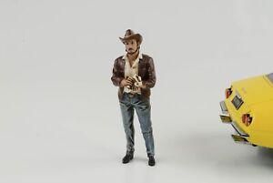 Figurine Western Style Mann Cowboy 1:18 Figurines American Diorama (VIII) No Car