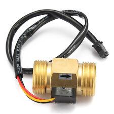 """G3/4"""" DN20 Copper Hall Effect Liquid Water Flow Sensor Switch Flowmeter Meter"""
