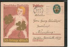 Echte ungeprüfte Briefmarken aus dem deutschen Reich (1924-1932) als Ganzsache