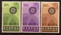 CYPRUS 1967 EUROPA CEPT SC # 297-299 MNH