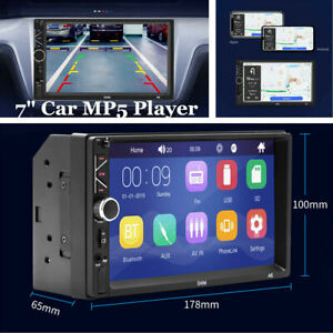 """7"""" Double 2Din Car MP5 USB Player In Dash Bluetooth Radio Stereo Touch Screen"""