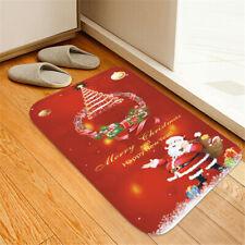 Christmas Anti-slip Kitchen Dinning Room Entrance Carpet Floor Mat Rug Cushion H