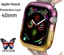Apple Smart Watch Face Screen Protective Case Cover 40mm Purple And Yellow